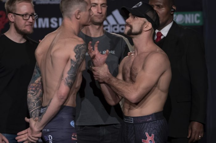 EFC72 Official Weigh ins. One fighter misses weight by 9kgs