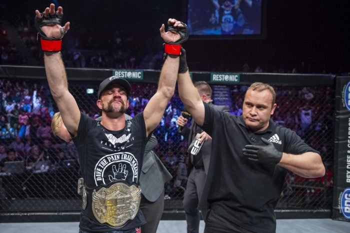 USA's Dave Mazany wins EFC Lightweight title in controversial split decision
