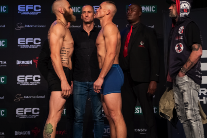 EFC80 official weigh in results