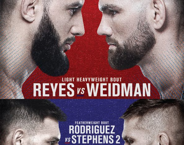 UFC® FIGHT NIGHT: REYES vs. WEIDMAN - Everything you need to know
