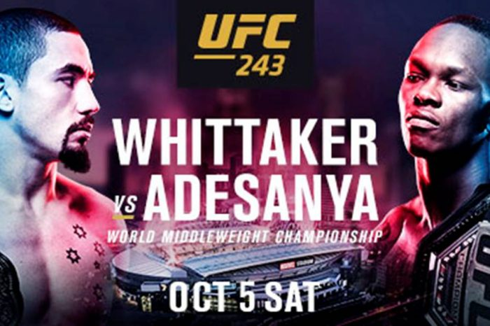 UFC243 Whittaker vs Adesanya - everything you need to know