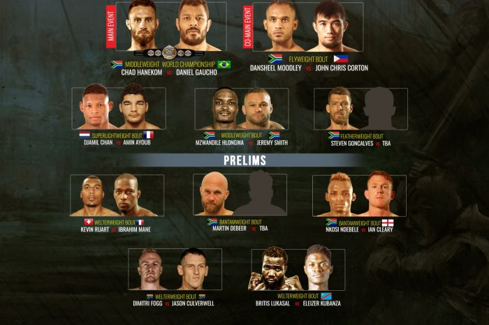Brave 31 South Africa Fight Card revealed
