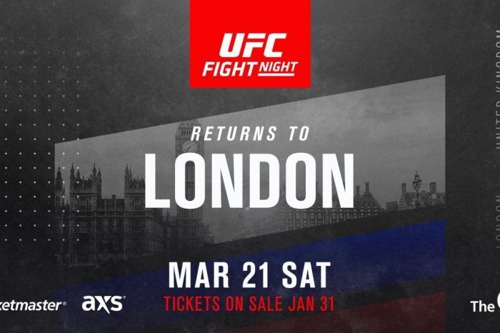 UFC headed back to London in March