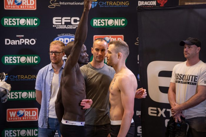 EFC84 official weigh In results
