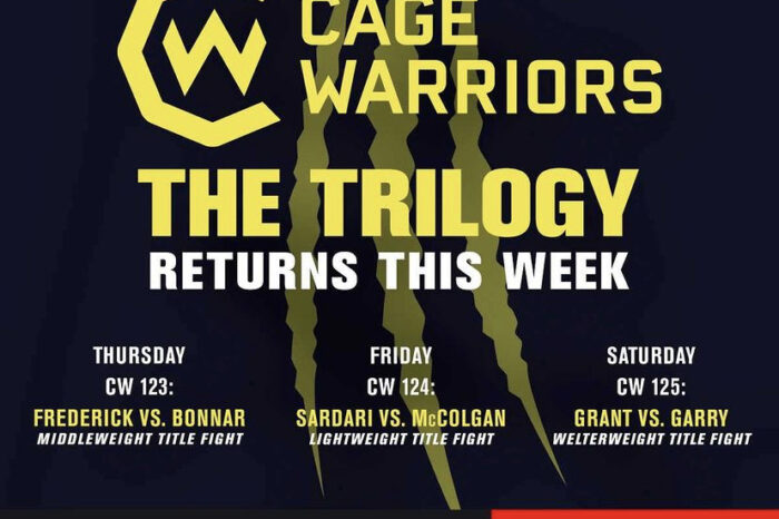 Cage Warriors returns with 3 events in 3 days