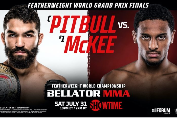 Pitbull vs AJ Mckee for Featherweight title and $1 Million